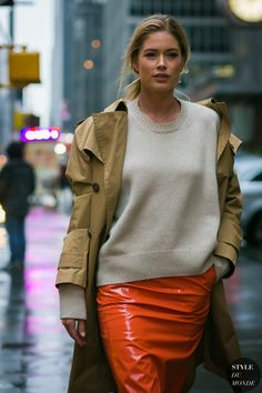 New York Fashion Week Fall 2017 Street Style: Doutzen Kroes