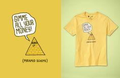 """Threadless + Gap tee """"Pyramid Scheme"""" by David Schwen"""