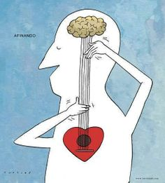 Music comes from the heart cartoon illustration art print Art And Illustration, Illustrations, Music Therapy, Music Is Life, Art Drawings, Musicals, Artsy, Sketches, Painting