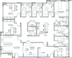 Medical Clinic Layout Floor Plans 54 New Ideas, – Home office design layout Office Floor Plan, Floor Plan Layout, Clinic Interior Design, Clinic Design, Medical Office Design, Healthcare Design, Plan Design, Layout Design, Hospital Floor Plan