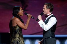 Audra McDonald (L) and Neil Patrick Harris perform onstage at The 67th Annual Tony Awards at Radio City Music Hall on June 9, 2013 in New York City.