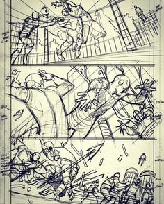 I love drawing…. Crazy page from ANAD Avengers 8 #marvelcomics #avengers