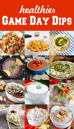 12 Healthier Game Day Dips - delicious dips that you don't have to feel guilty about!