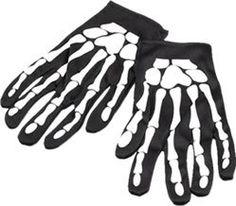 From 0.10 New Halloween Skeleton Gloves Skull Fancy Dress