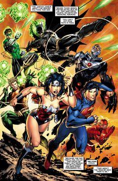 Justice League #12 by Jim Lee
