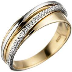 Dreambase Damen-Ring Gelbgold mit Weißgold kombiniert 14 ... https://www.amazon.de/dp/B01HSRT3NW/?m=A37R2BYHN7XPNV