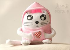 Soft toy Margot the Kitty Cat Sweet Edition by ecotule on Etsy