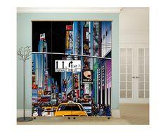 New york vector art 2, αυτοκόλλητο  ντουλάπας Illustration Art