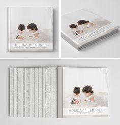 Holiday Book Album Cover Template for #Photoshop #photography #templates #digital #psd #photographers #christmas #sessions #book #album
