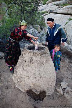 Outdoor cooking - Uzbekistan