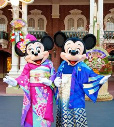Mickey and Minie in Tokyo Disney Resort. @Amy Lyons Lyons Young Dumb And Fun - Travel Blog