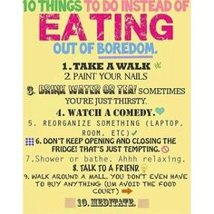 Just some tips to #stopthebinge or avoid overeating when you're bored!! #Padgram