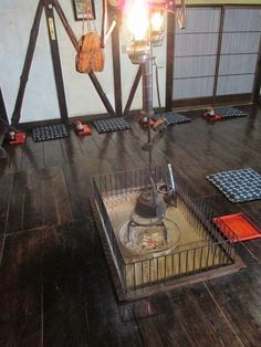 北温泉の囲炉裏
