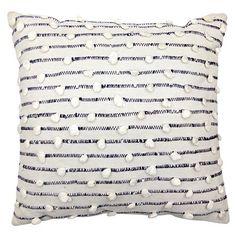 """Woven Throw Pillow (18x18"""") - Grey/White - Threshold™ : Target"""