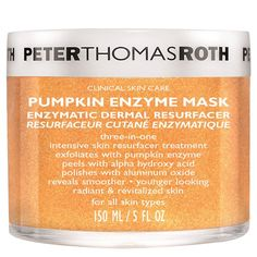 Peter Thomas Roth Pumpkin Enzyme Mask - Pumpkin Beauty Products That Are Better Than A PSL - Photos Peter Thomas Roth, Pumpkin Enzyme Peel, Cc Creme, Pumpkin Mask, Baby Acne, Skin Care Clinic, Exfoliate Face, Alpha Hydroxy Acid, Younger Skin