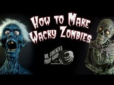 Chicken shares how he makes zombies, ghosts, and corpses with simple materials, like paper towels and paint! An easy DIY Halloween project with tons of p. Creepy Halloween Props, Halloween Forum, Halloween Gif, Halloween Haunted Houses, Halloween Crafts, Halloween Ideas, Halloween Decorations, Youtube Halloween, Halloween Skeletons