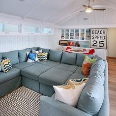 Pit Sectional, Cottage, living room, Natalie Umbert