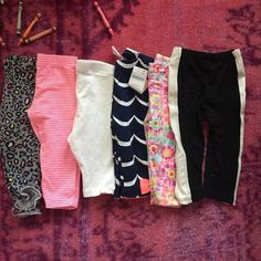 Baby girl lot of pants 6 pairs of pants. Some like new. And some new with tags. Smoke free. Pet free Other
