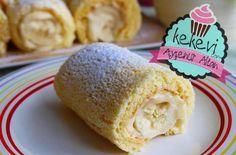 Porsiyonluk Muzlu Rulo Pasta / Rulo Pasta Nasıl Yapılır? | Ayşenur Altan Yemek Tarifleri Biscuits, Food Website, Turkish Recipes, Beautiful Cakes, My Recipes, Vanilla Cake, Ice Cream, Pudding, Cheese