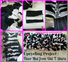 Upcycling / DIY : Floor Mat from Old T-Shirts