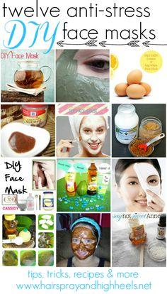 12 DIY Face Masks  via @Krista McNamara McNamara McNamara McNamara Knight and HighHeels