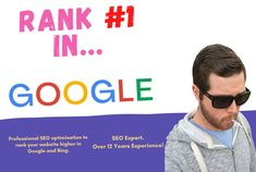"""SEO Expert. Over 12 years in the field working with all business types and sizes. I know what makes Google and Bing """"tick"""". I will help your page move up Google rankings fast! I use only safe and proven """"White Hat"""" techniques. Seo Optimization, Search Engine Optimization, Seo Site, Seo Specialist, On Page Seo, Seo Agency, Seo Strategy, Local Seo, Seo Company"""