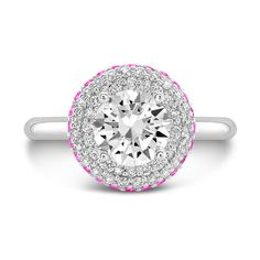 Dafina Diamond Roll (Diamond with Pink Sapphires) on dafinajewelry.com #engagementrings #rings