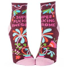 Our Super Fucking Awesome Women's Ankle Socks are, well, super fucking awesome. As they do say so themselves!