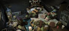 There all soooooo bored  Btw, read this book on Wattpad, it has awesome tmnt pictures!