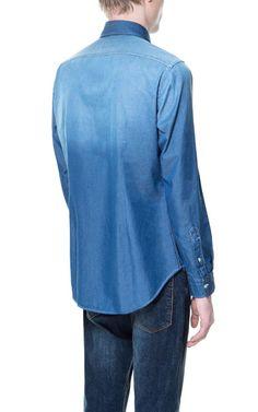 Image 3 of DENIM BUTTON-DOWN SHIRT from Zara