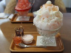 paintedimaginings: Japanese Shaved Ice Dessert - Spring Ice by INZM.
