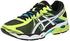 Asics Men'S Gel-Flux 2 Running Shoe, Black/White/Flash Yellow, 9 M Us