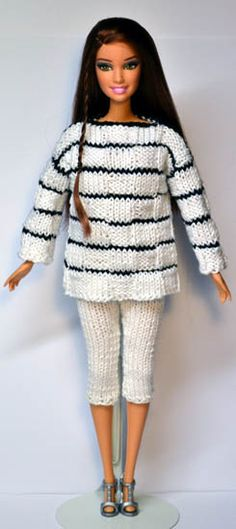 Knitting Dolls Clothes, Crochet Barbie Clothes, Doll Clothes Barbie, Barbie Dress, Knitted Dolls, Barbie Doll, Crochet Barbie Patterns, Barbie Clothes Patterns, Clothing Patterns
