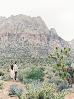 las vegas red rock desert engagement photo