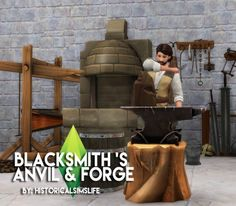 History Lover's Sims Blog: Blacksmith set • Sims 4 Downloads  Check more at http://sims4downloads.net/history-lovers-sims-blog-blacksmith-set/