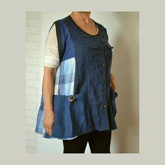 Tunic for work  women's loose tunic linen cotton tunic