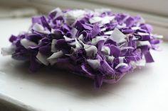Week #22 - Lavender Rag Rug Bag.