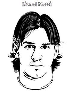 Lionel Messi Kleurplaat