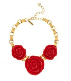 Oscar de la Renta Peony Resin Necklace - Shop the best fashion and accessories from our May issue now! http://shop.harpersbazaar.com/in-the-magazine/shop-the-issue/may-2014