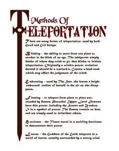 Methods of teleportation