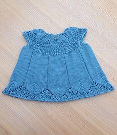 """Ravelry: Buttons29's Matilda Dress. """"Eli Baby Dress"""" top, plus """"Flora Dress"""" skirt"""