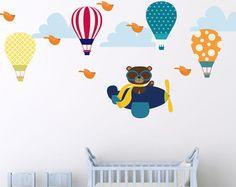 Wall Decals Nursery Wall Decal Nursery Balloon by BebeDivaBoutique