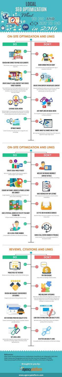 nice Local SEO - Do's and Don't in 2016 - #infographic