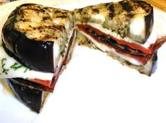 Grilled eggplant sandwich (breadless!!!)