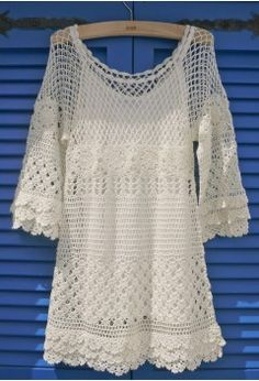 """See more Chicwish Hand Knit Crochet Dress """"Hand Knit Delicacy of Crochet Dress - Party - Dress - Retro, Indie and Unique Fashion"""", """"Hand Knit Delicacy o Mode Crochet, Knit Crochet, Crochet Tops, Graph Crochet, Hand Crochet, Unique Fashion, Crochet Woman, Crochet Fashion, Retro Dress"""
