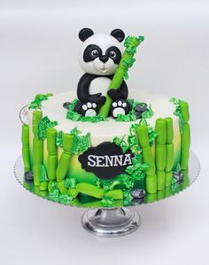 Discover recipes, home ideas, style inspiration and other ideas to try. Panda Bear Cake, Bolo Panda, Panda Cakes, Bear Cakes, Panda Birthday Cake, Boys First Birthday Cake, Panda Party, Animal Cakes, Types Of Cakes