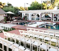 Stunning stage over pool