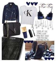 """""""Look at the stars!"""" by maryanacoolstyles ❤ liked on Polyvore featuring Balmain, Calvin Klein, Topshop, Acne Studios, Yves Saint Laurent, Chanel and CK One"""