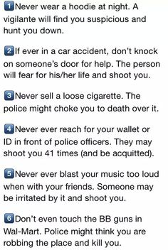 "No one should have to take these ""precautions"" it's sad"