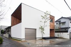 大人のこだわりに満ちた、美が細部に宿る家 Japanese Modern House, Modern Small House Design, Small Modern Home, Japan Architecture, Residential Architecture, Architecture Details, D House, Facade House, Modern Architects